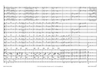 """Partiturseite """"Rushhour"""" von Stefan Kreuscher für Bigband"""