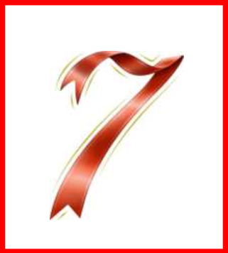 今月のラッキーナンバー 7