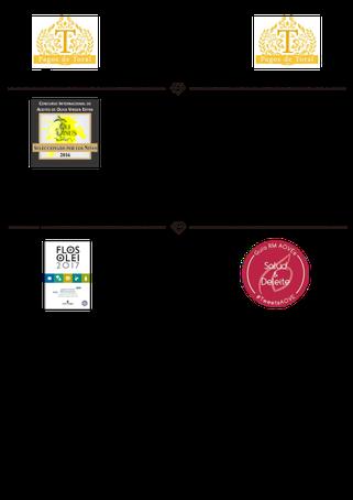スペイン最高級オリーブジュース受賞歴2016・2017