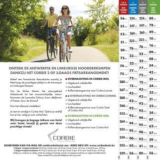 Tips voor Fietsen - Gratis Fietsgids - Fietsen in en om Antwerpse Kempen 2021 - Corbie Hotels - Fiets 2 & 3-daagse met Bagagevervoer