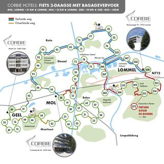 Tips voor Fietsen - Gratis Fietsgids - Fietsen in en om Antwerpse Kempen 2021 - Corbie Hotels - Fiets 2 & 3-daagse met Bagagevervoer - Fietsroute