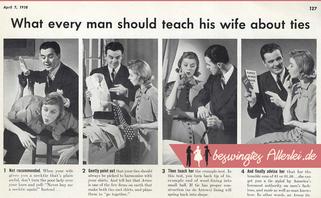 La vida de una corbata, o lo que un hombre de esplicar a una mujer sobre corbatas