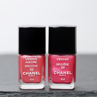 CHANEL • BRUYÈRE 59 • Comparison VERNIS NACRE vs. VERNIS