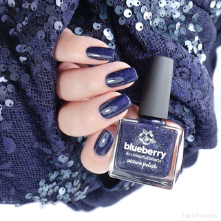 picture polish • blueberry • by colourfulnailarts • Collaboration Shades Collection (released September 2019)