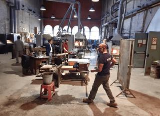 Besuch einer alten Glasfabrik in Murano