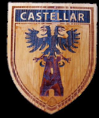 BLASON AU LASER COLORISÉ CASTELLAR