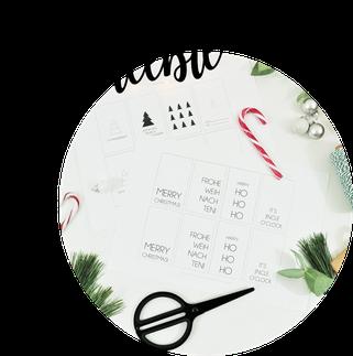 Bild: Geschenkanhänger für Advent und Weihnachten mit dieser Vorlage selber basteln; kostenlose Printable Geschenkanhänger zum ausdrucken und verpacken // gefunden auf www.partystories.de // #weihnachtsgeschenke #geschenkeverpacken #Geschenkanhänger