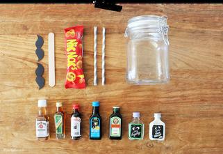 Bild: DIY Geschenk, last-minute Geschenkidee, Minibar to-go, Alkohol schön verschenken, Partystories