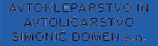 Avtokleparstvo in avtoličarstvo Simonič Domen