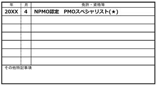 プロジェクトマネジメント,資格,履歴書,記載,PMO,日本PMO協会,