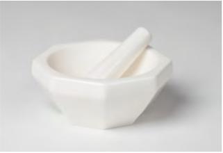 Mortero y maja 99.5% de alúmina Octagonal de porcelana Coors Tek No 60335, 60356, 60358, 60359, 60361, 60362, 60364, 60365, 60370, 60371, 60373, 60374.