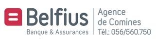 logo de Belfius agence de Comines