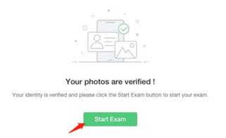 PMP®オンライン試験_写真撮影成功時の画面イメージ
