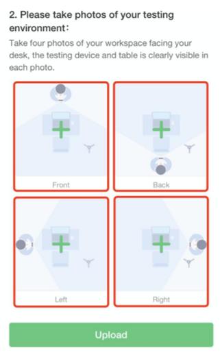 PMPオンライン試験_受験環境の撮影のイメージ画像