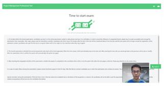 PMP®オンライン試験_試験開始の待機画面イメージ画像