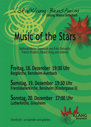 Konzertankündigung Music of the Stars