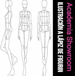 Ilustración a Lápiz de Figurín - Academia Showroom - Enero 2017