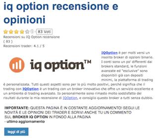 iq option recensione opinioni
