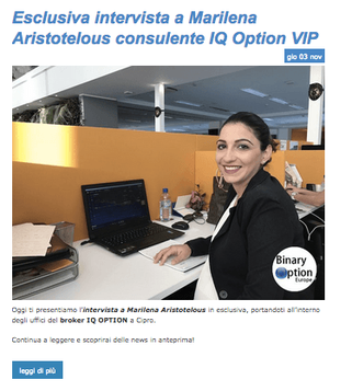 marilena iq option intervista
