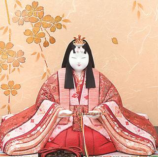 真多呂人形 本金 紫雲雛(女雛)