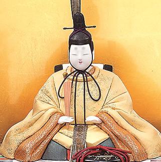 真多呂人形 本金 麗華雛(男雛)