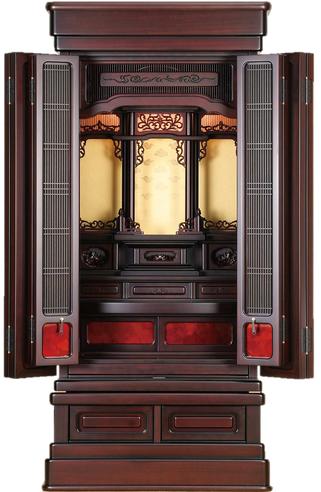 紫檀仏壇「鷹山 筬」43-18