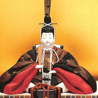 真多呂人形 帯地本金 銀雅雛(男雛)