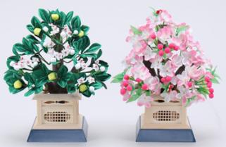 雛道具 桜橘(天然木)