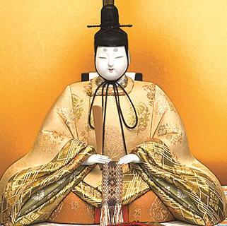 真多呂人形 本金 春慶雛(男雛)