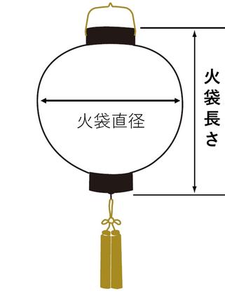 門提灯のサイズイメージ