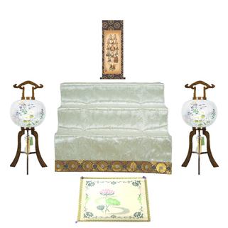 い草座布団と盆祭壇