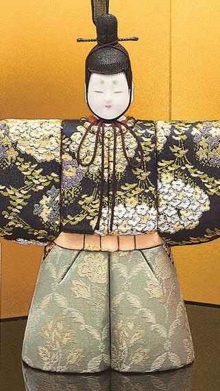 真多呂人形 彩明立雛(男雛)
