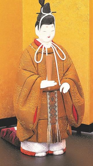 真多呂人形 東宮立雛(男雛)黄櫨染