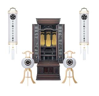 初盆用白提灯とお仏壇