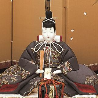 真多呂人形 帯地本金 麗鳳雛(男雛)