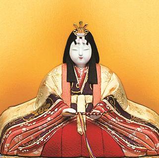 真多呂人形 本金 嵯峨野雛(女雛)