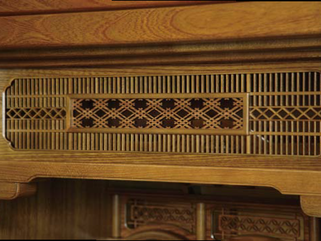 欅仏壇「東根」神代色 欄間