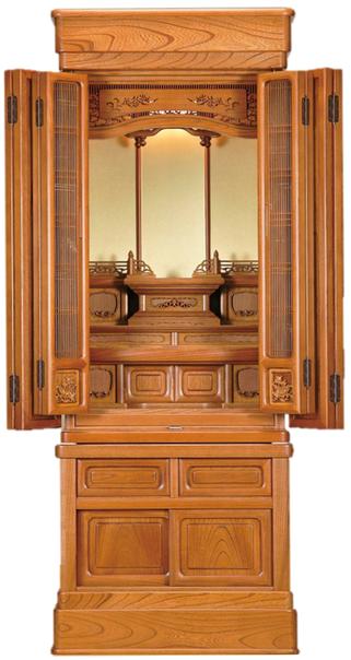 欅仏壇「よろこび 2型 筬」47-17 明色