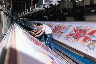 鯉のぼりの製造工程 染色