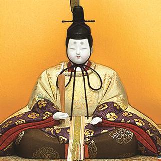 真多呂人形 本金 嵯峨野雛(男雛)