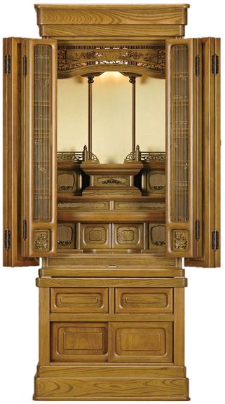 欅仏壇「よろこび 2型 筬」52-18 神代色