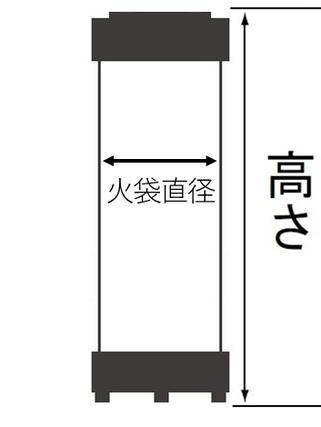 モダン提灯のサイズ