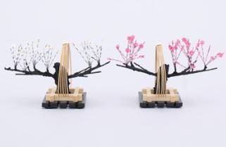 雛道具 紅白梅 (竹)井垣