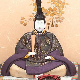 真多呂人形 本金 紫雲雛(男雛)