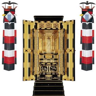 切子灯籠と金仏壇