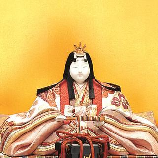 真多呂人形 帯地本金 銀雅雛(女雛)