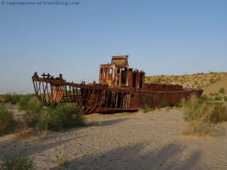 Schiffswrack im Aralsee
