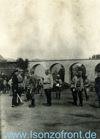 Besuch des Erzherzog Thronfolgers am 18. Juli 1915. Sammlung www.Isonzofront.de