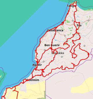 Raodtrip Marokko 2018/2019 - mit dem VW Bus nach Marokko