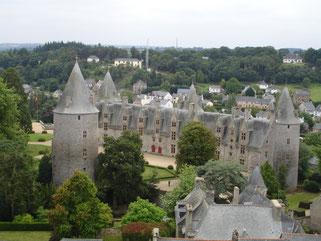Aperçu du village médiéval de Josselin